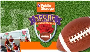 Rose Bowl Sweepstakes - public storage quot score sweet seats quot sweepstakes win trip to attend the rose bowl more