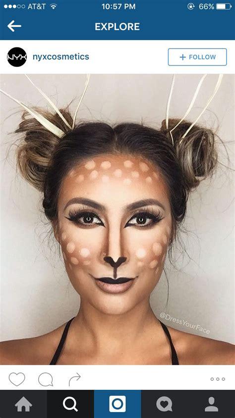 falloween maquiagen triks faschingskostuem reh bambi