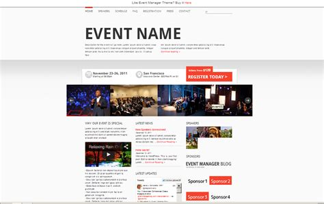 The Best Event Website Templates To Pimp Your Next Event Event Website Template