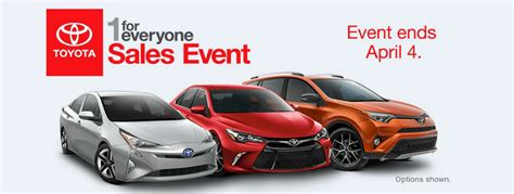 Toyota Sales Event Toyota 1 For Everyone Sales Event