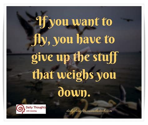 if you ve thought about if you want to fly you have to give up daily thought