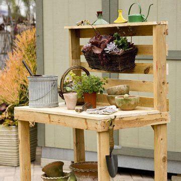 pallet garden work bench pallet garden work bench gardening ideas pinterest