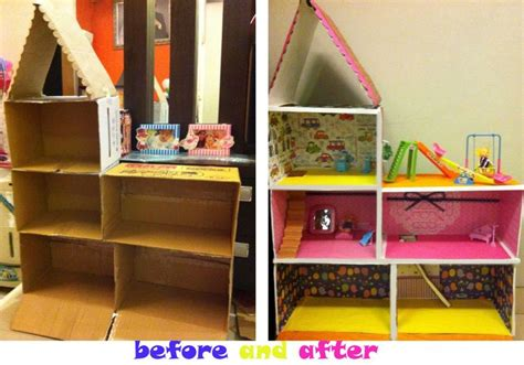 doll house crafts diy cardboard box doll house things i ve craft pinterest diy cardboard boxes