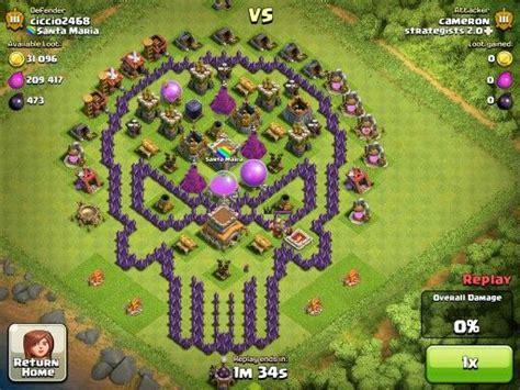 coc layout heart base design clash of clans pinterest design