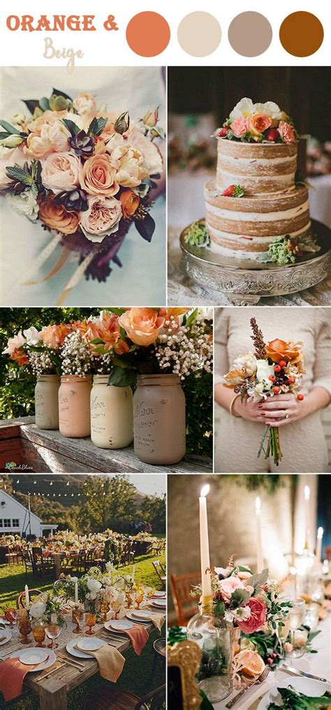 the 10 fall wedding color combos to wedding colors wedding decorations