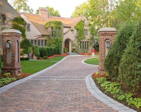 curb appeal driveway ideas landscape design brick pavers