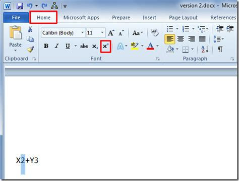 Or Text How To Superscript And Subscript Text In Word 2010