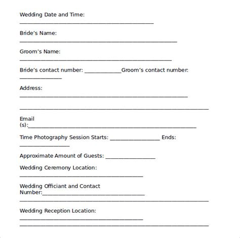 wedding contract templates wedding contract template 19 free documents