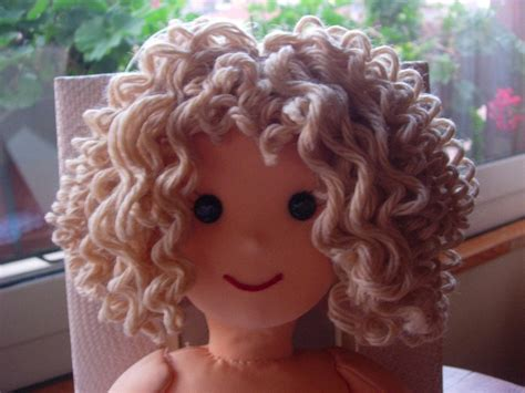 rag doll with hair bambolando dolls curly hair tutorial rag dolls