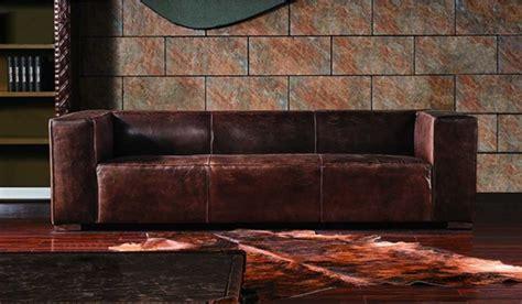 Fulham Vintage Leather 3 Seater Sofa Luxury Delux Deco