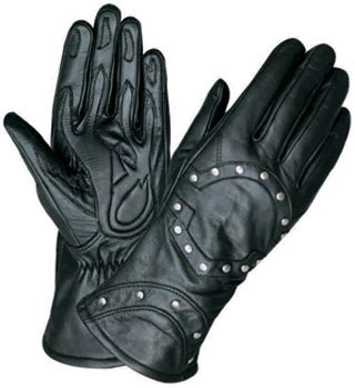 womens motocross gloves premium studded leather women s motorcycle gloves