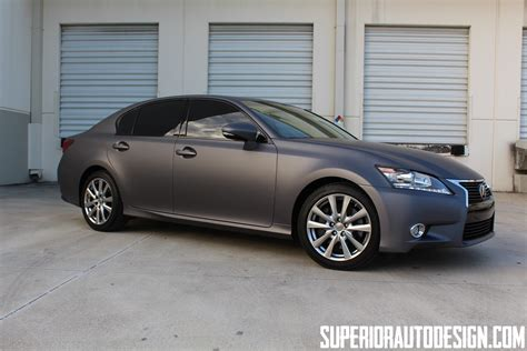 matte grey new lexus gs 350 gets matte dark grey wrap autoevolution