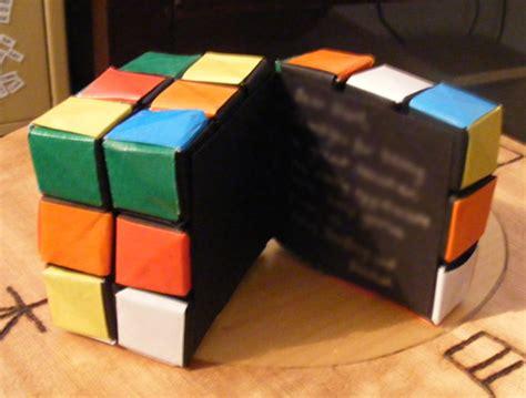 Origami Rubik Cube - folded paper origami creations pix o plenty