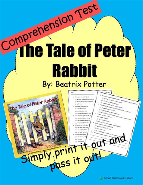 rabbit based on the books 28 best images about comprehension tests on