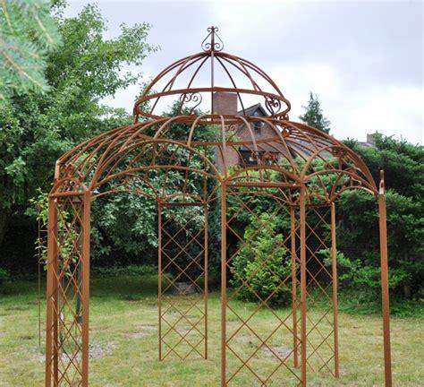 metall pavillon kaufen gartenpavillon metall romantik rost 216 290cm eisenpavillon