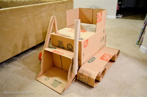 How To Make A Box Out Of Construction Paper - diy cardboard trucks project nursery