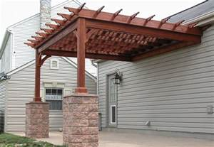 Attaching A Pergola To A House by Pergola Plans Attached To House Smalltowndjs Com