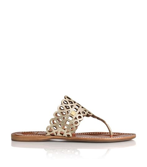 gold burch sandals burch davy metallic flat sandal in gold