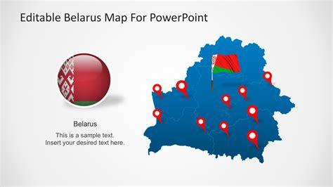 editable powerpoint templates editable belarus map for powerpoint slidemodel