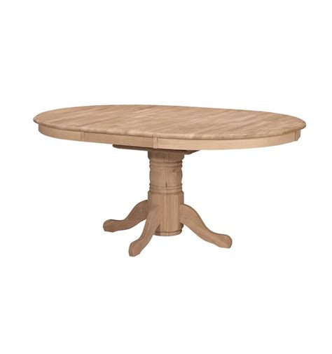 48x48 66 inch butterfly dining table bare wood