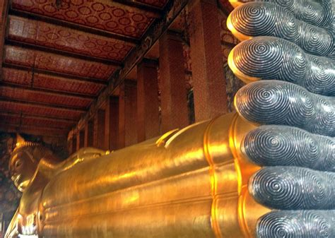 Reclining Budda by Bangkok Thailand Temple Reclining Buddha And Journey