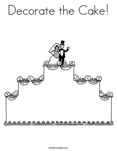 coloring page for cake decorating decorate the cake coloring page twisty noodle