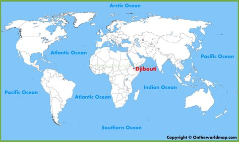 where is america located on the world map djibouti location on the world map