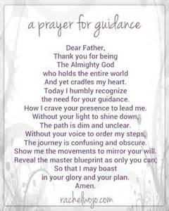 prayer guidance rachelwojo