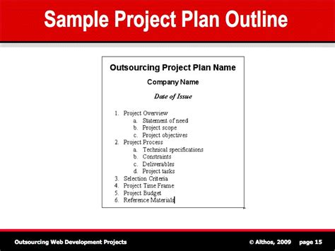 template for a project plan project outline new calendar template site