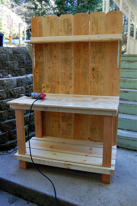 building a potting bench 10 charming diy outdoor storage ideas garden lovers club