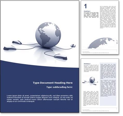 royalty  courses  microsoft word template  blue