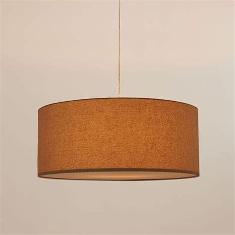 linen drum pendant light drum pendant linen west elm