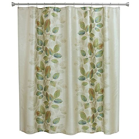 bacova shower curtains bacova waterfall leaves shower curtain in blue green bed
