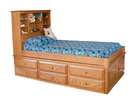 captain bed with underbed drawers captain s bed ohio hardword upholstered furniture