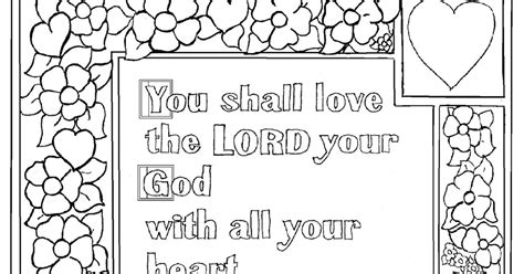 Deuteronomy 6 Coloring Pages by Coloring Pages For By Mr Adron Deuteronomy 6 5