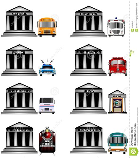 Small Office Building Plans public services icons stock illustration image of