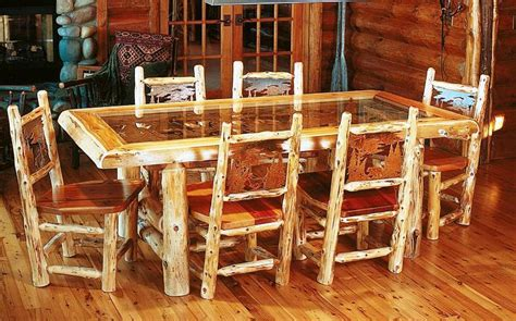 rustic cabin dining room sets decor homes decorate