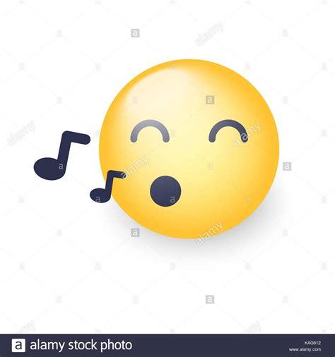 singing emoji smiley closed stock photos smiley closed