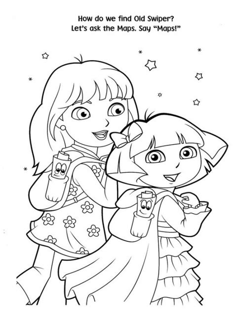 christmas coloring pages of dora the explorer free printable dora christmas coloring pages picture 42