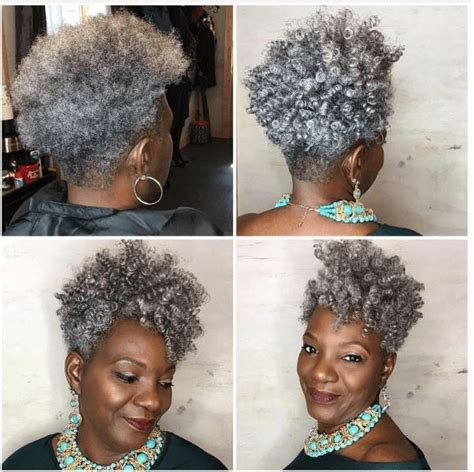 natural gray african american hair styles 25 best ideas about tapered hair on pinterest natural