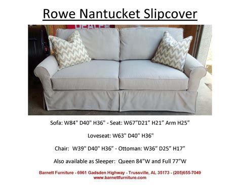 rowe nantucket sofa slipcover rowe nantucket slipcover 2 cushion sofa you choose the
