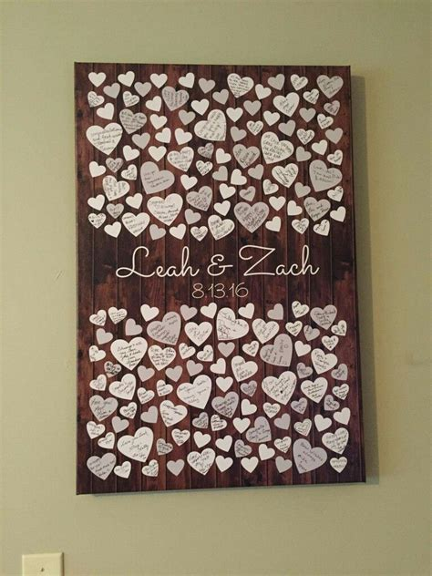 such a sweet idea for a guest book made by peachwik weddings the decor books
