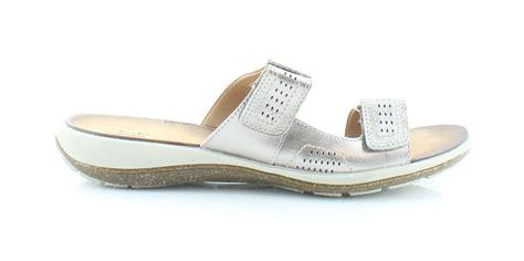 size 12 sandals clarks taline pop silver womens shoes size 12 m sandals