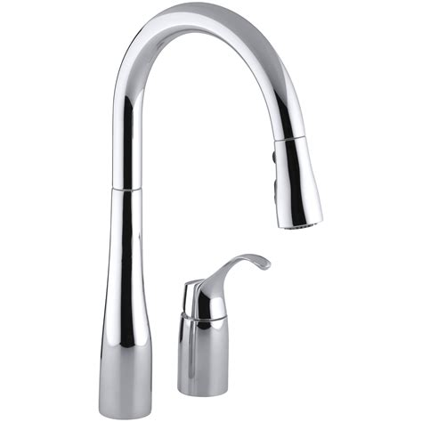 kitchen sinks faucets kohler simplice two kitchen sink faucet with 16 1 8 quot pull swing spout docknetik