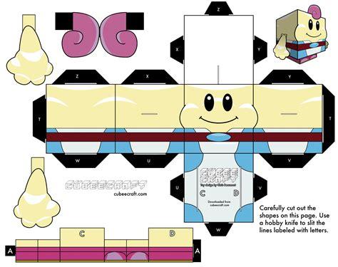 Papercraft Printouts - papercraft mario templates images
