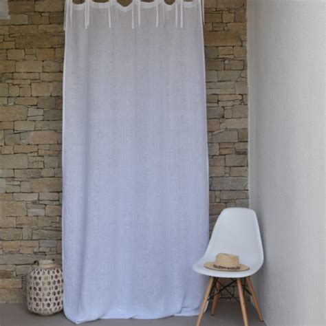 white gauze curtains white fine linen gauze curtain maison d 233 t 233