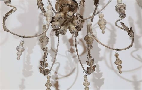Distressed Wood Chandelier Wood And Metal Distressed Finish Swedish Chandelier For Sale At 1stdibs
