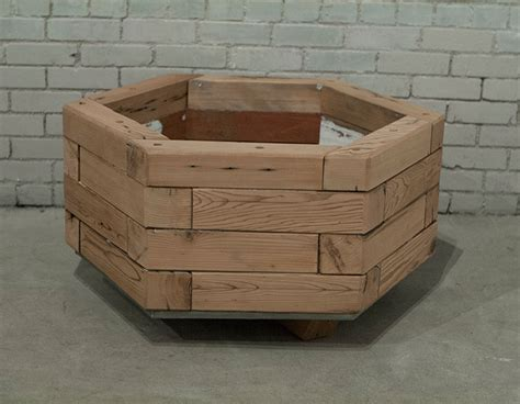 hexagonal octagonal planters custom by rushton llc