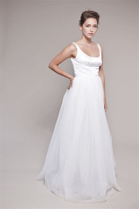 Tank Style Wedding Dresses by Items Similar To Tulle Wedding Dress Petals Scooped Tank