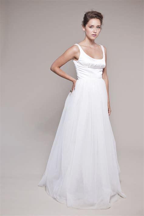tank style wedding dresses items similar to tulle wedding dress petals scooped tank
